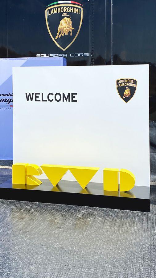 Lamborghini event sign