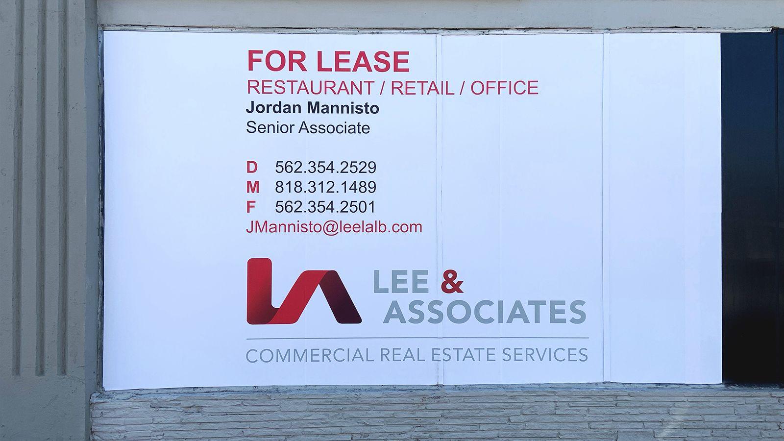 Lee & associates window decal