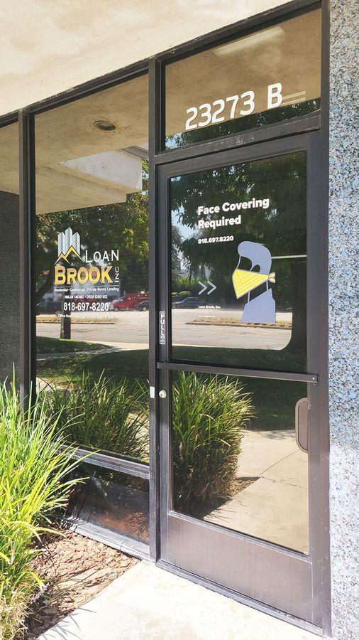 Loan brook window clings
