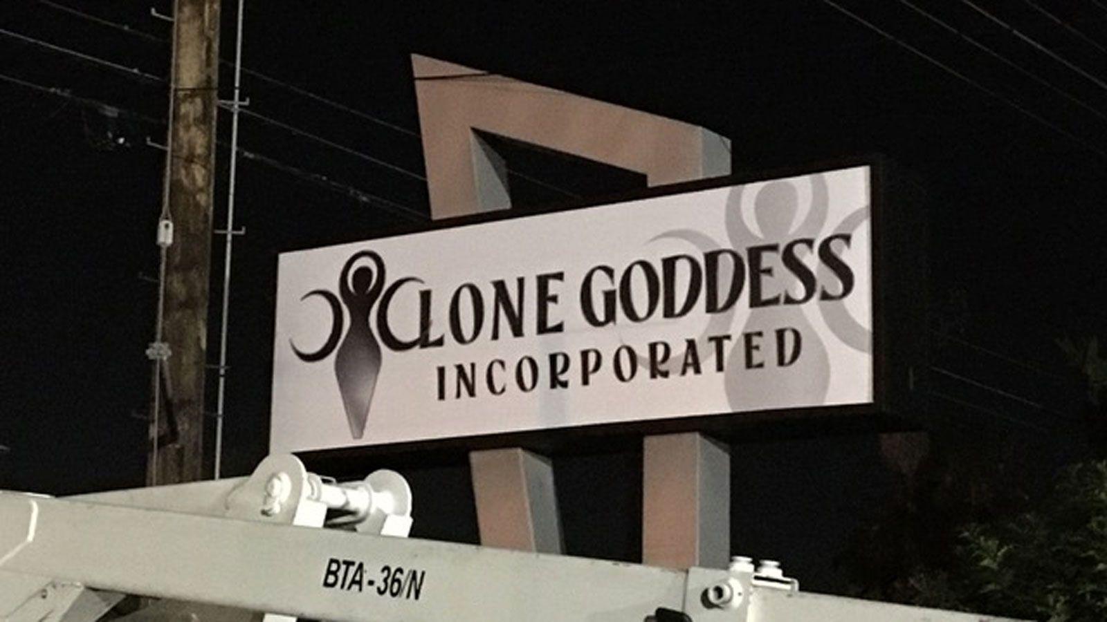 Lone Goddess light box