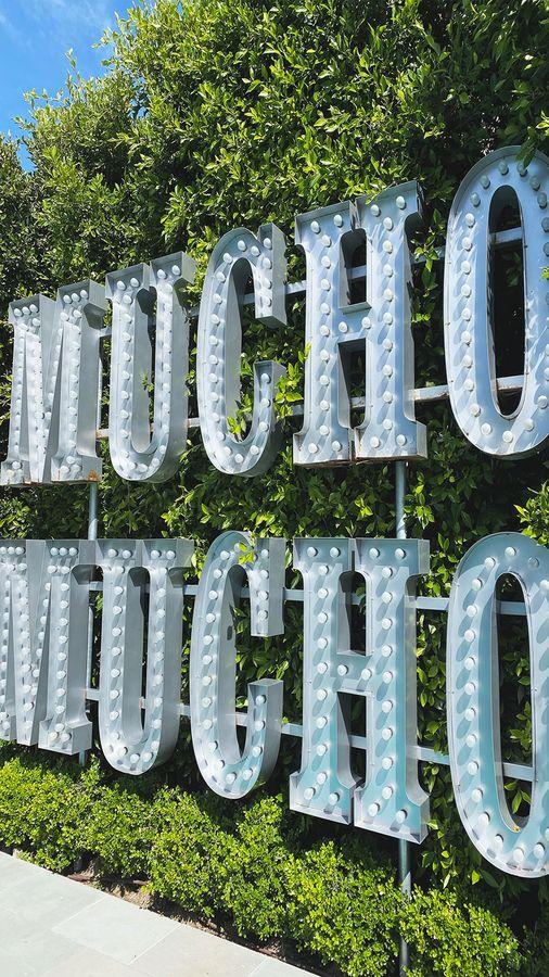 Mucho Mucho marquee sign