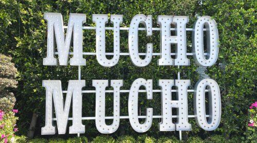 Mucho Mucho marquee signage