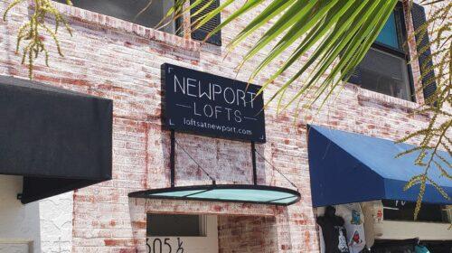 Newport Lofts illuminated sign
