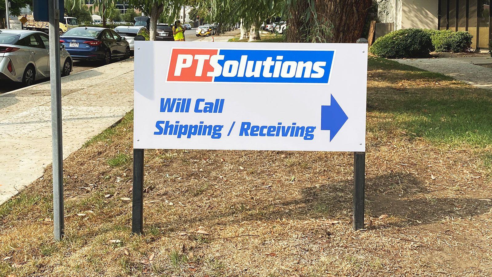 PT Solutions dibond sign