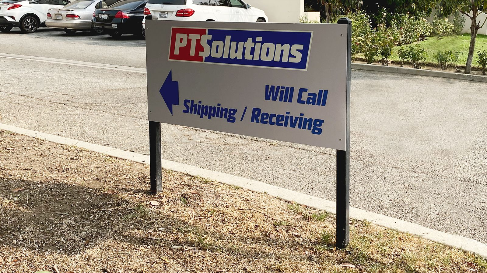 PT Solutions yard sign