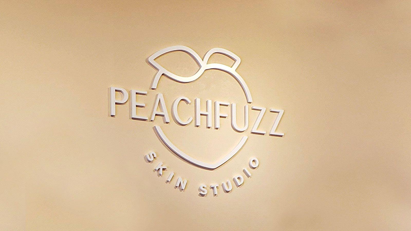 Peachfuzz 3D letters