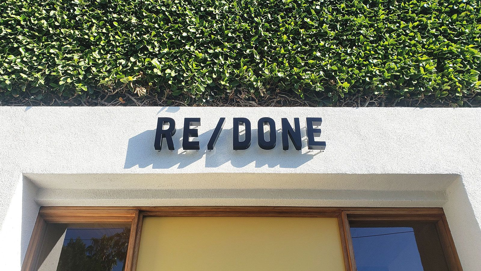 Redone storefront 3D letters