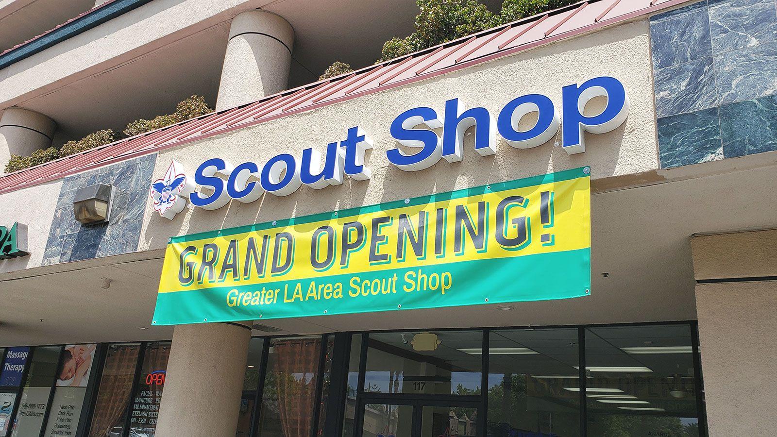 Scout shop LED sign