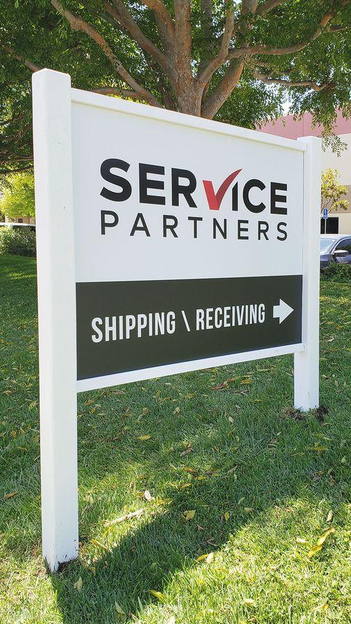 Service Partners dibond sign