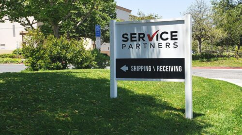 Service Partners free standing sign