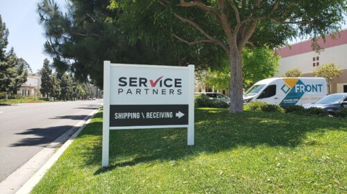 Service partners monument sign