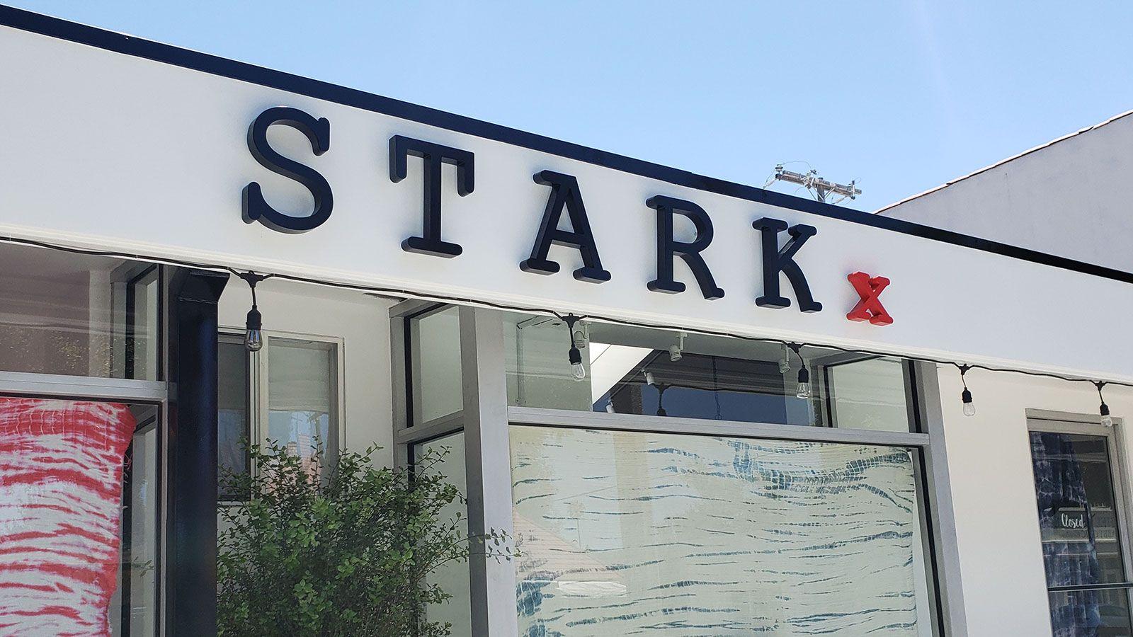 Stark building 3d letters