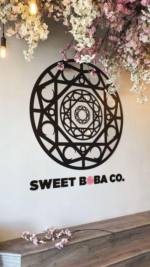 Sweet boba acrylic sign