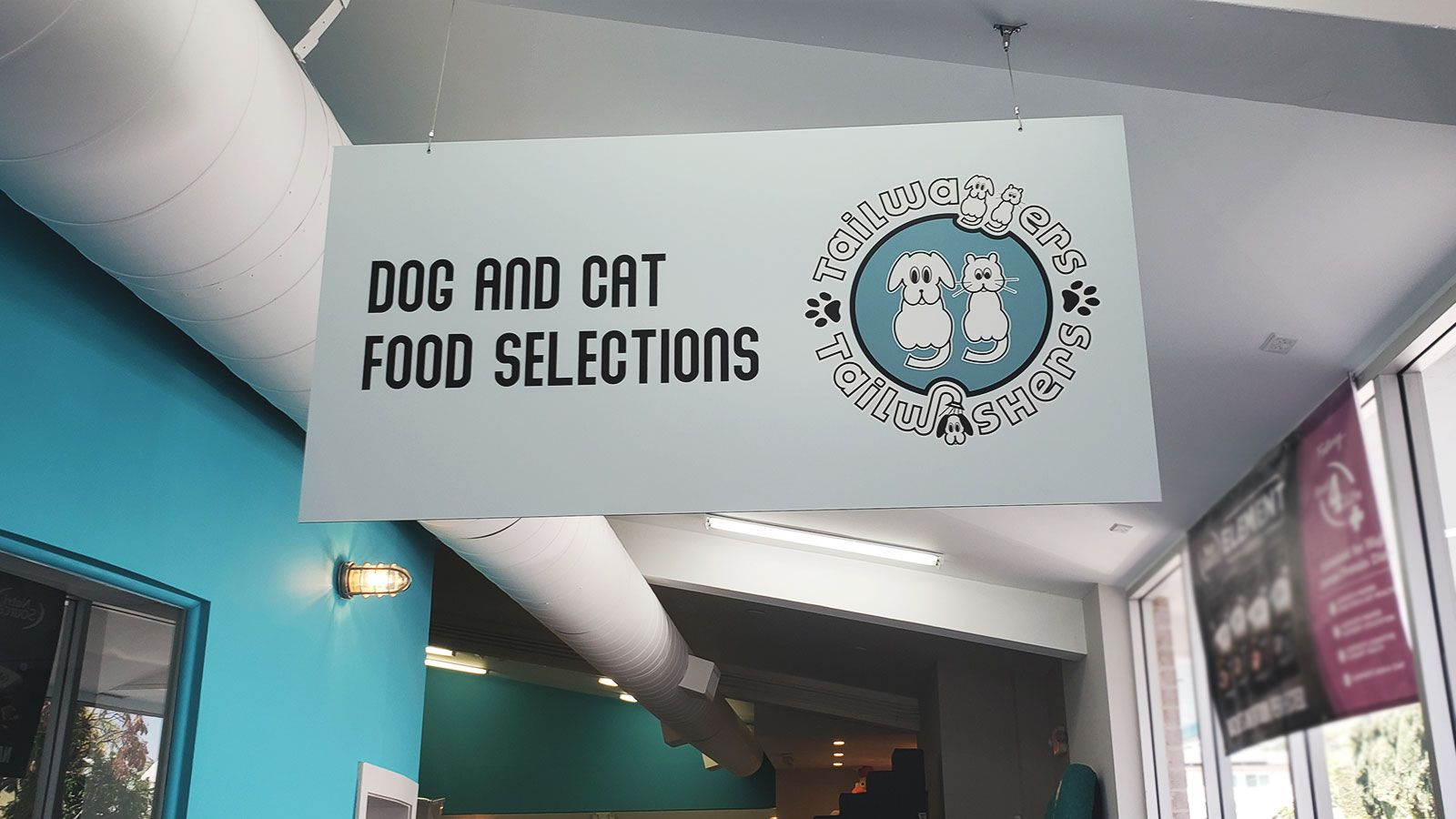 Tailwaggers hanging sign