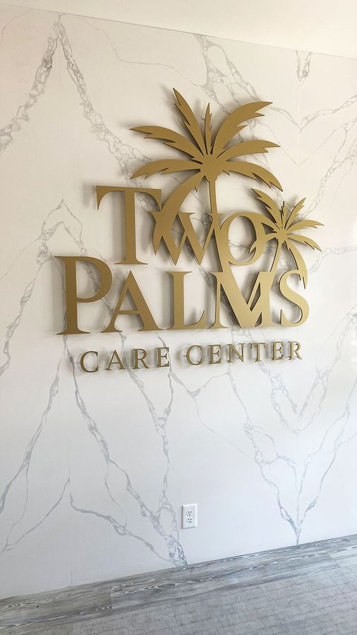 Two palms 3d letters