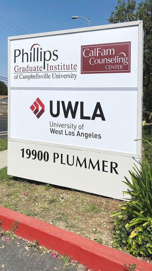 UWLA acrylic monument sign