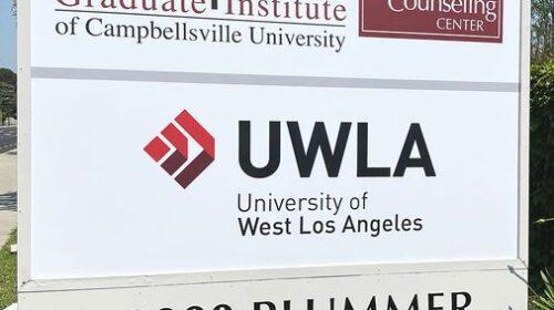 UWLA monument sign