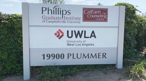 UWLA plywood monument sign