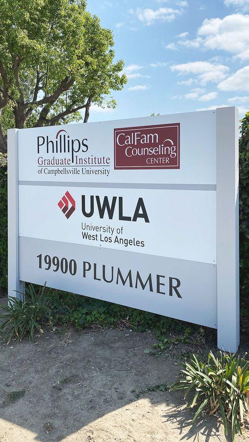 UWLA plywood sign