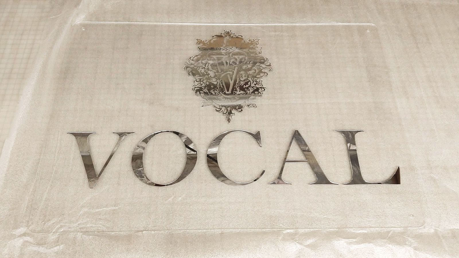 Vocal acrylic sign