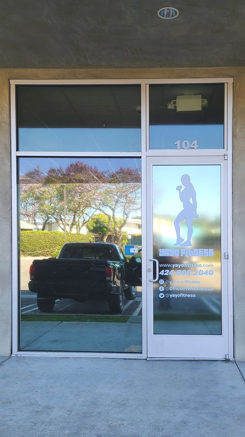 Yayo Fitness clear decal