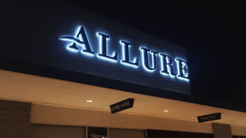 allure backlit letters
