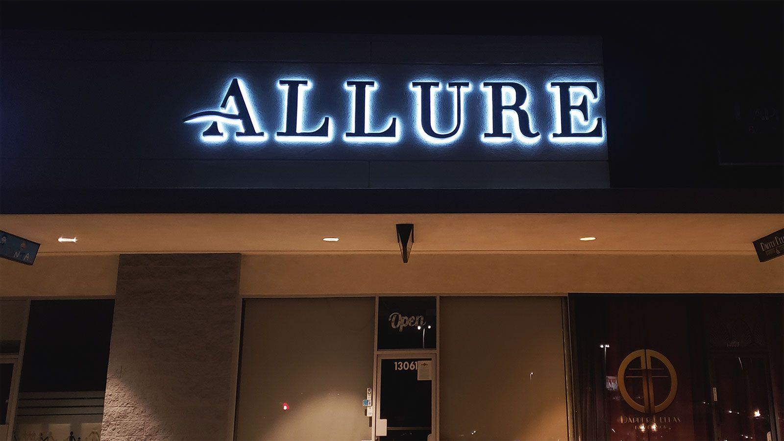 allure reverse channel letters