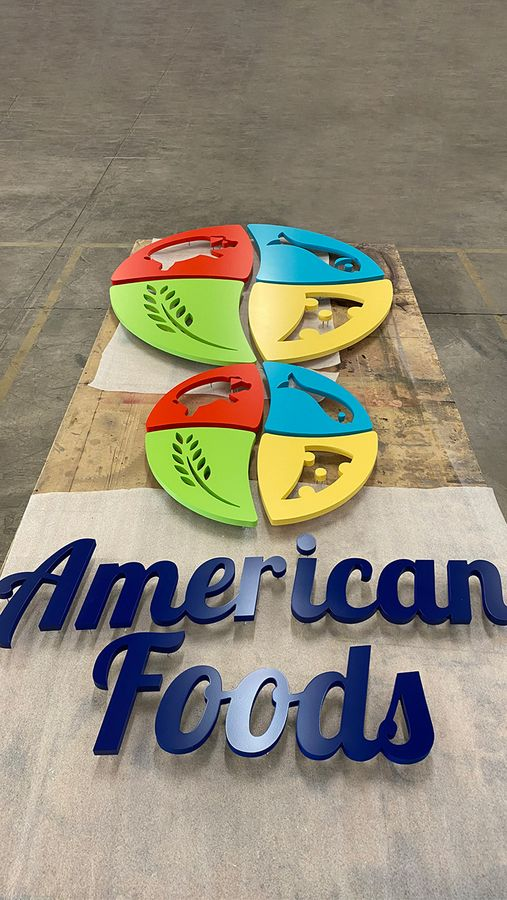 american foods 3d sign