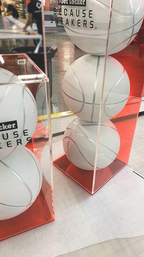 foot locker acrylic displays