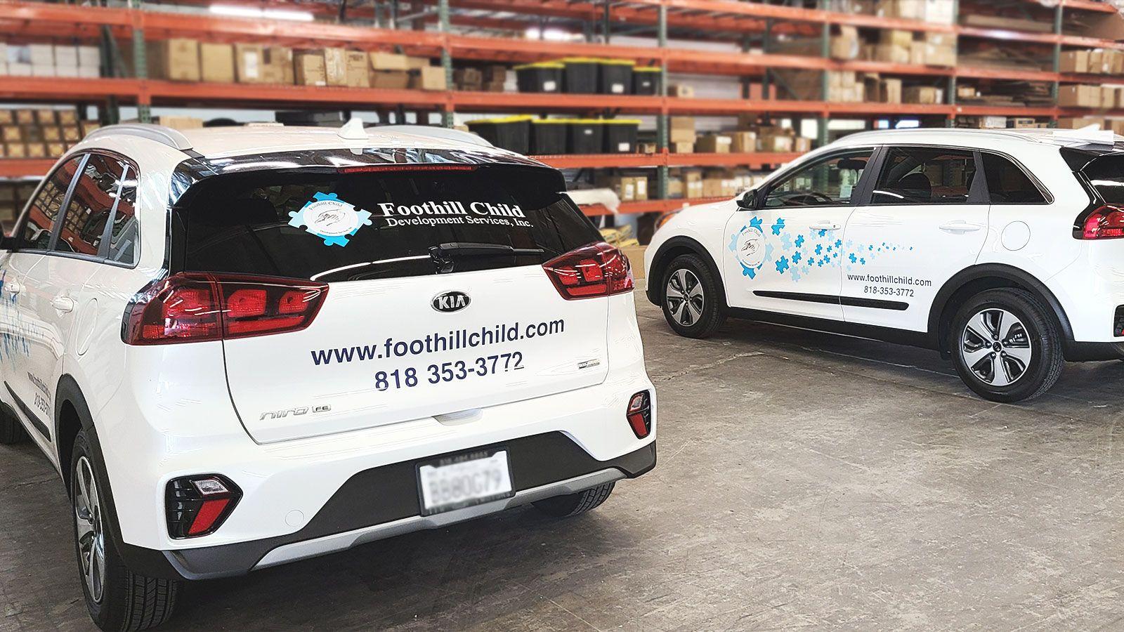 foothill child vehicles branding