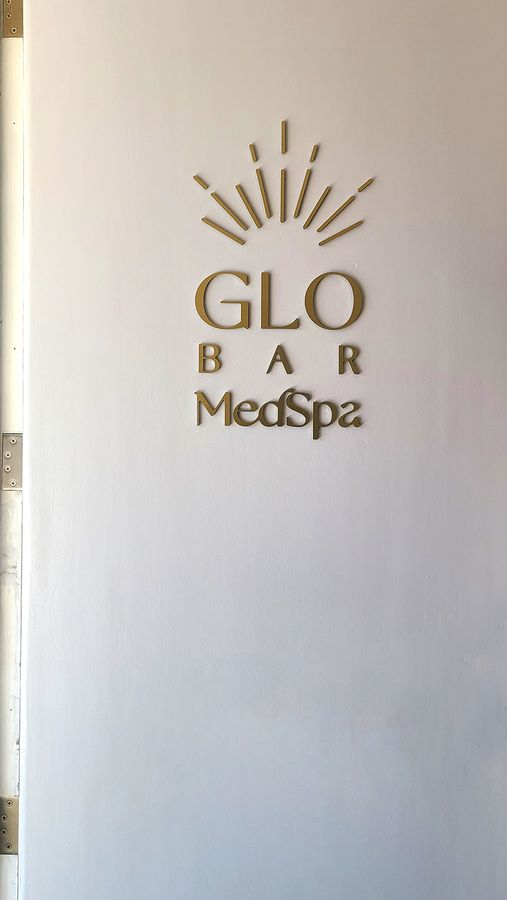 glo bar medspa 3d sign