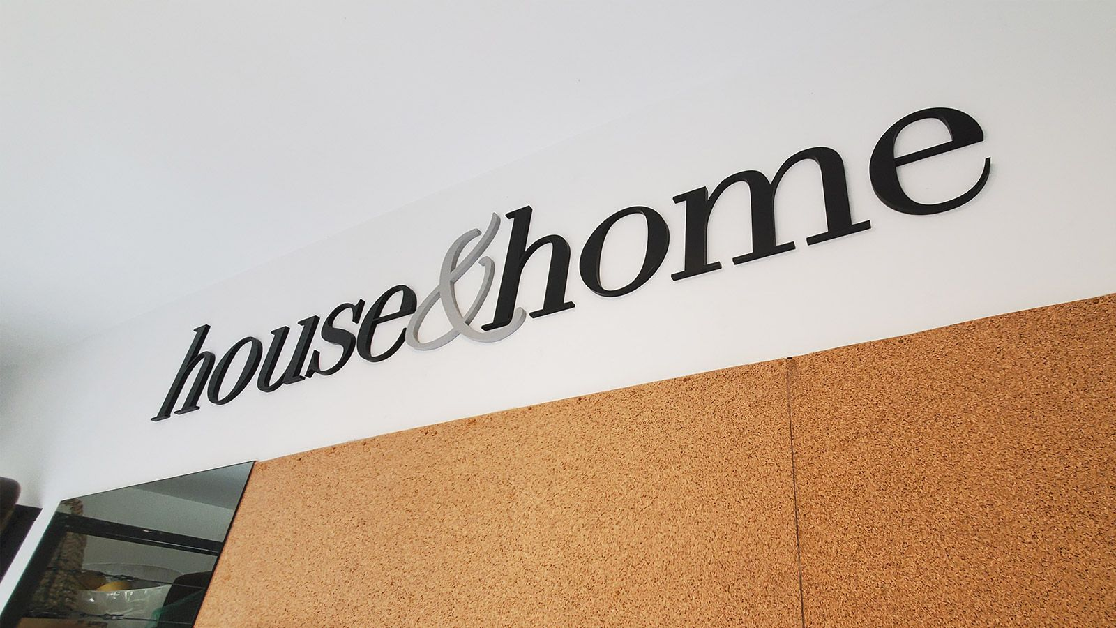house & home 3d letters