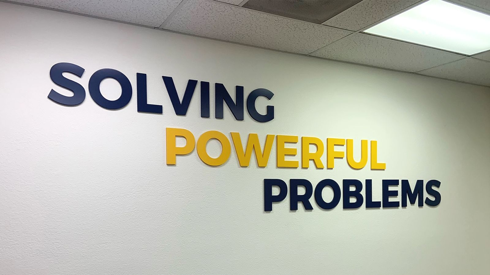 office interior 3D sign