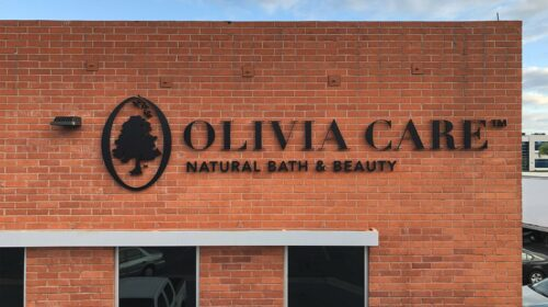 olivia care acrylic 3d letters