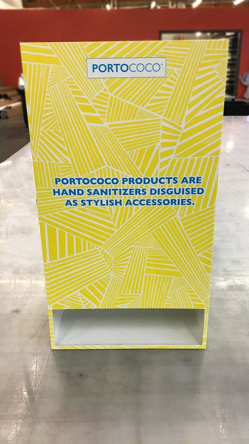 portococo pvc product stand