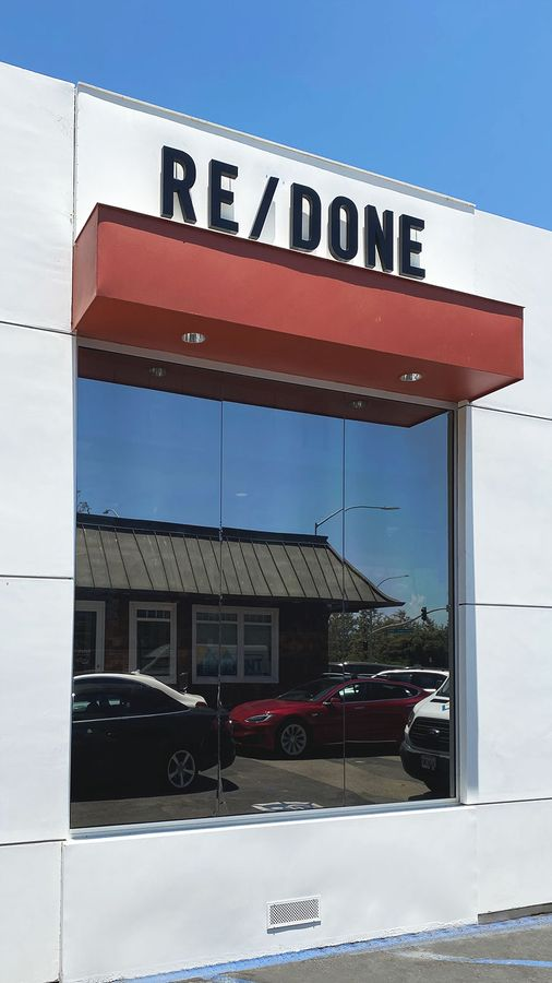 redone building sign