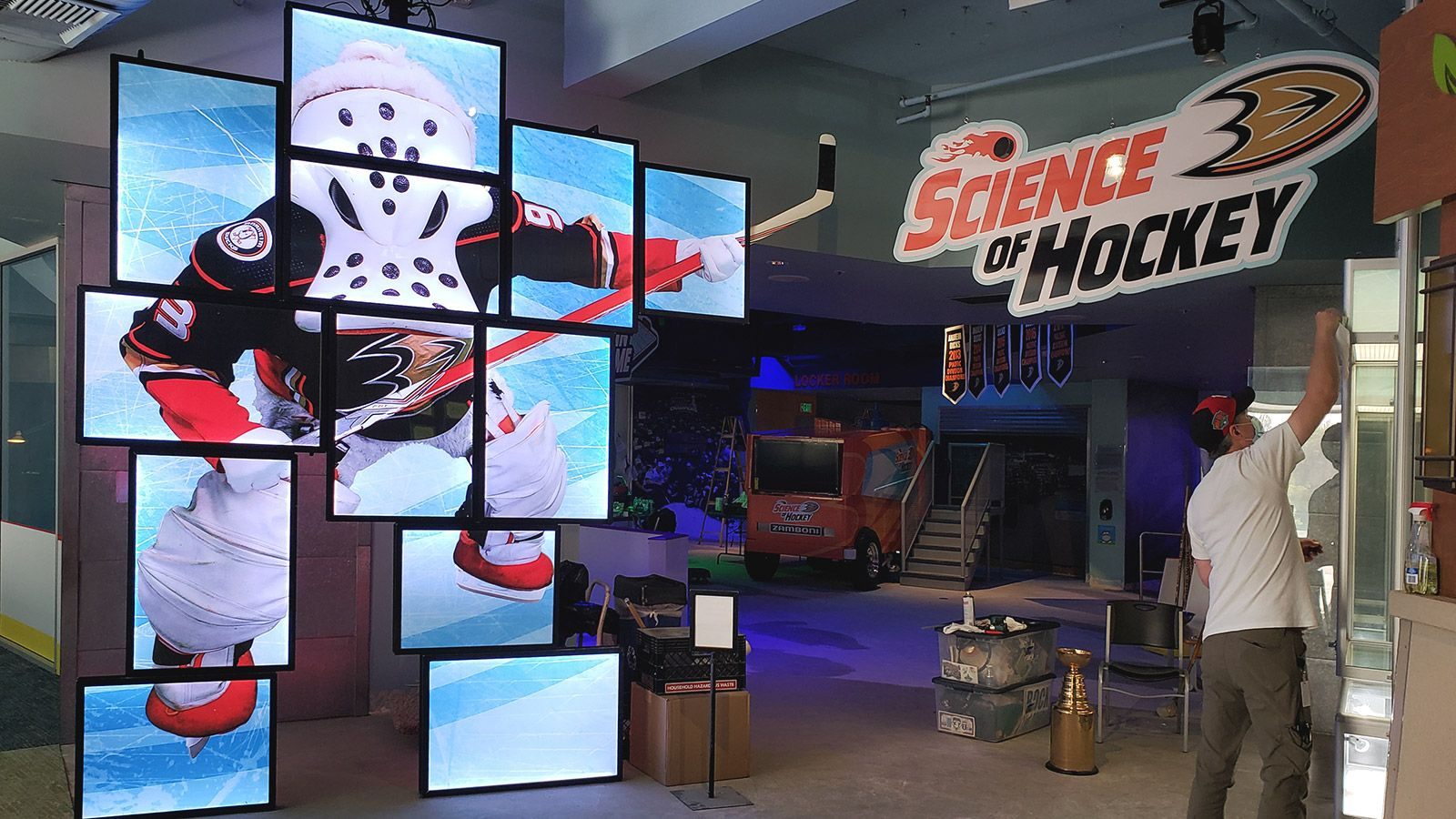 science of hockey hanging sign