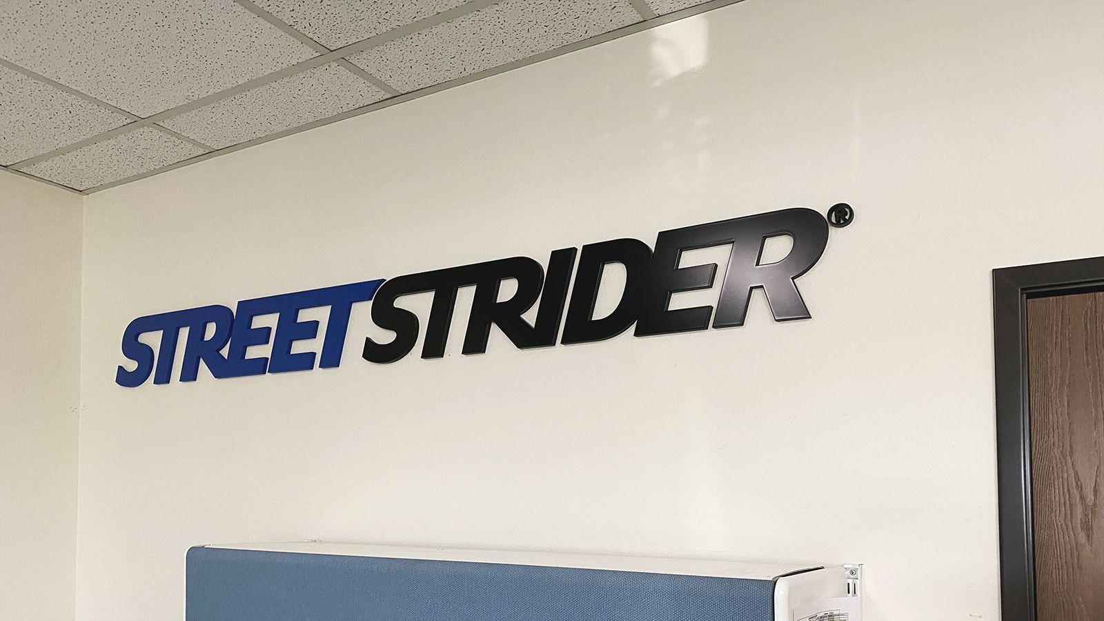 streetstrider 3d letters