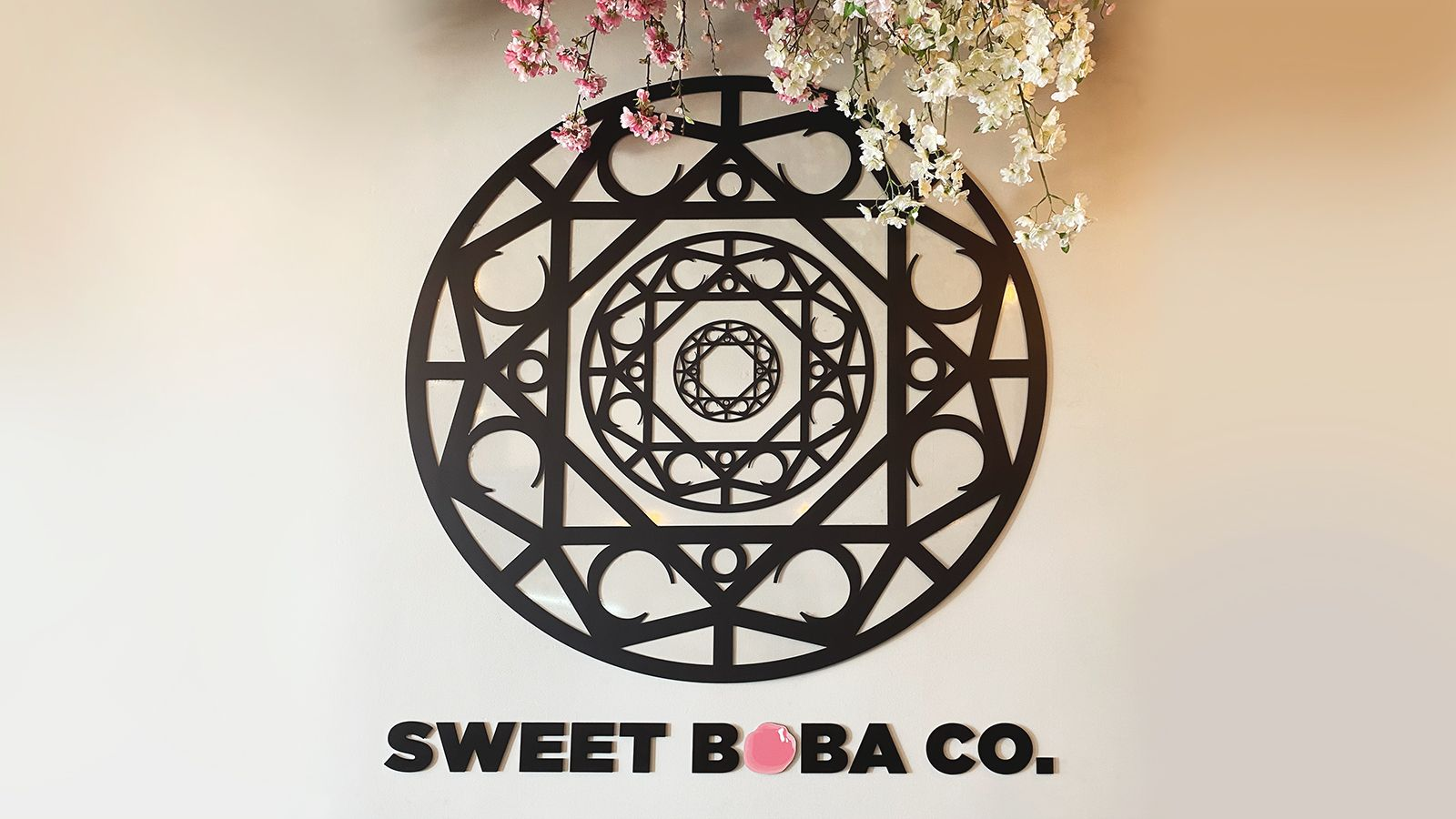 sweet boba 3d sign