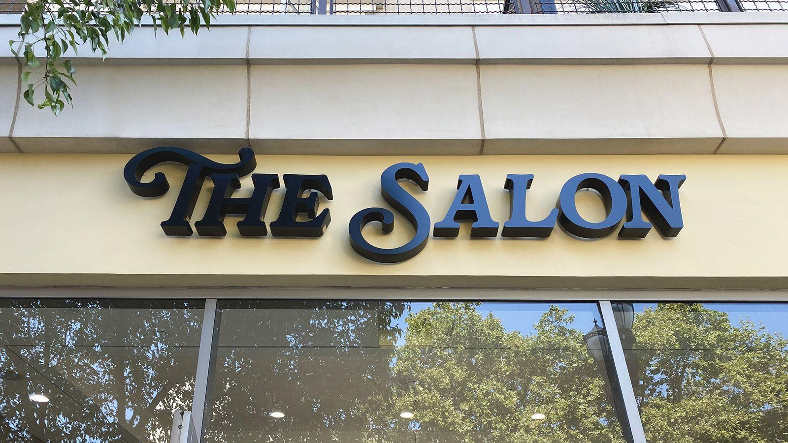 the salon channel letters