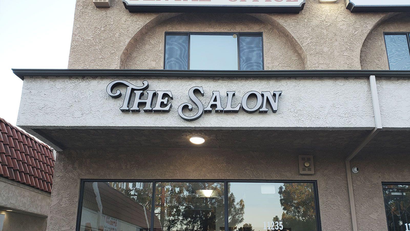 the salon led channel letters