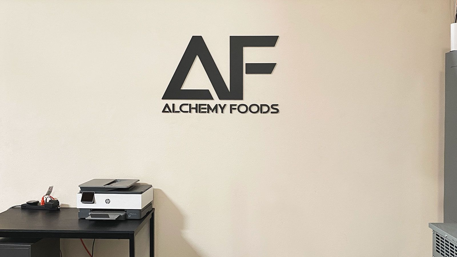 Alchemy Foods acrylic 3D letters