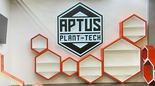 Aptus plant-tech reverse lit sign