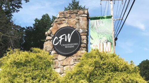 CFW winery aluminum sign