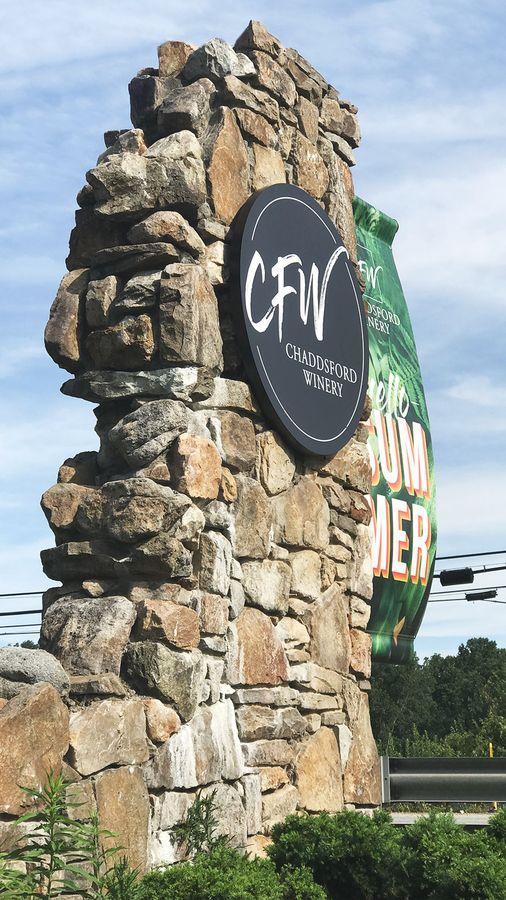CFW winery logo sign