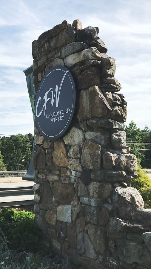 CFW winery monument sign