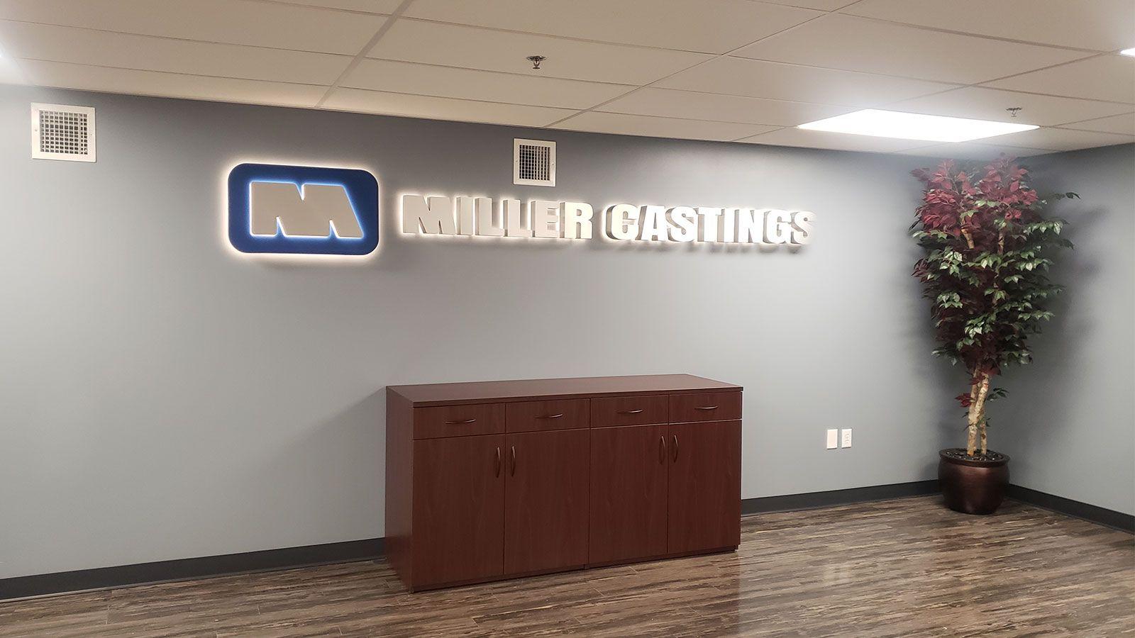 Miller castings office led sign