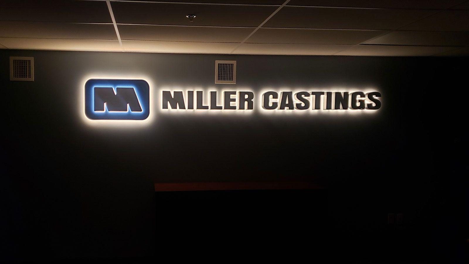 Miller castings reverse channel letters