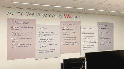 Wella Professionals foam core signs