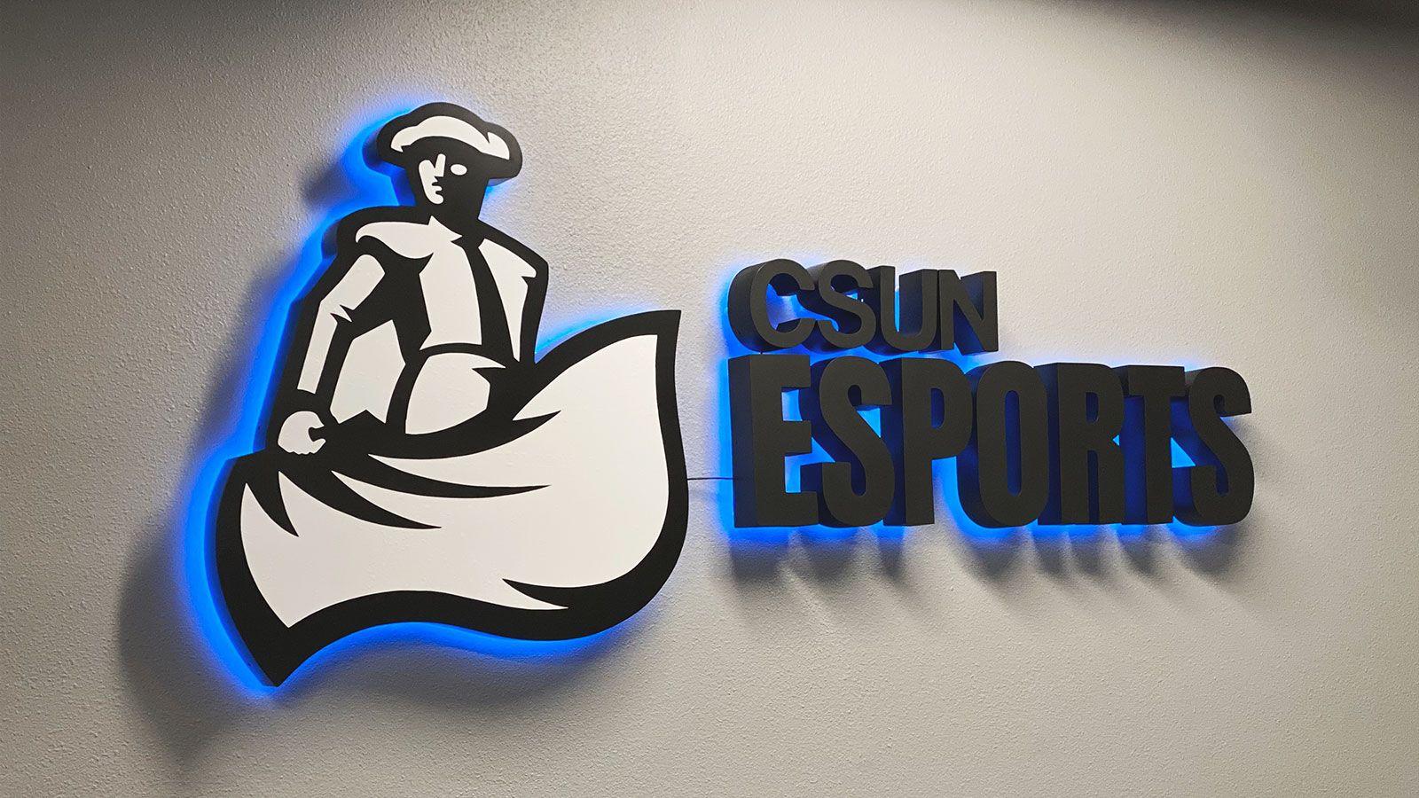 csun esports backlit sign